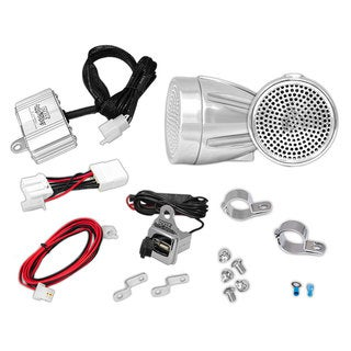 Pyle 300-watt Recreational Vehicle Weatherproof Amplifier and Speakers with USB Charger