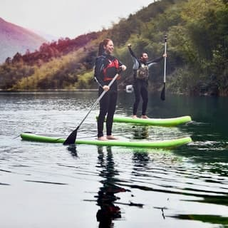Blue Wave Sports Manta Ray 12-foot Inflatable Stand Up Paddleboard with Hand Pump|https://ak1.ostkcdn.com/images/products/9686744/P16865628.jpg?impolicy=medium