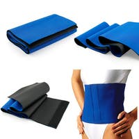 Gearonic Blue Rubber Waist Trimmer Sweat Fat Cellulite Burner Exercise Wrap Belt
