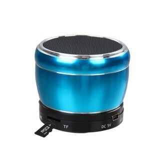 INSTEN Blue 3.5mm Cable Micro SD Card USB Flash Bluetooth Mobile Speaker With 3-Way USB Cable