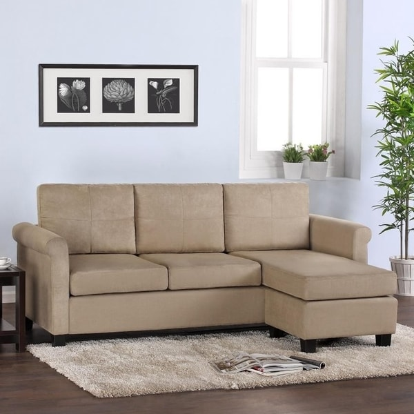 dorel living small spaces sectional sofa free shipping today