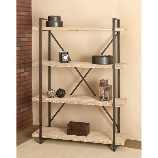 47 X 67 Tall Industrial Black Metal Amp Wood Bookshelf