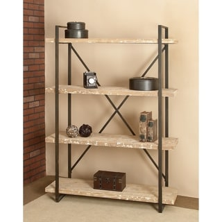 Industrial 67 x 47 Inch Metal and Wood Storage Shelf by Studio 350