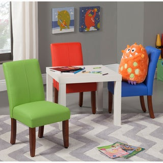 HomePop Juvenile Parson Upholstered Chair (Set of 2)