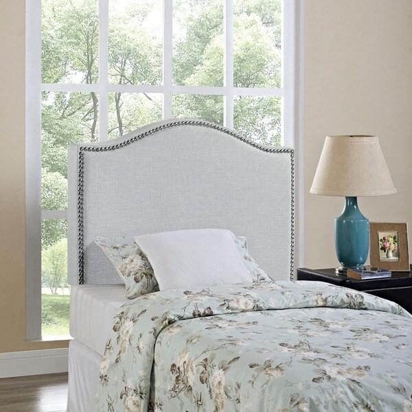 Grey Curl Nailhead Upholstered Headboard - Grey Curl Nailhead Upholstered Headboard - Free Shipping Today