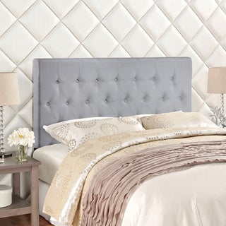 Modway Clique Upholstered Button-tufted Grey Headboard