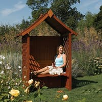English Garden Wood Arbor with Seat