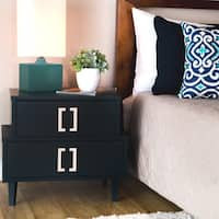 Maison Rouge Navy Empire 2-drawer Nightstand