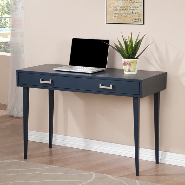 Navy Empire 2 Drawer Writing Desk Free Shipping Today