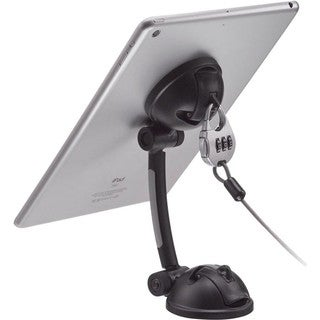 CTA Digital Suction Mount Stand with Theft Deterrent Lock for iPad, T