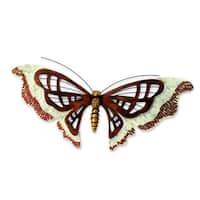 Handmade Iron 'Aztec Butterfly' Wall Sculpture (Mexico)