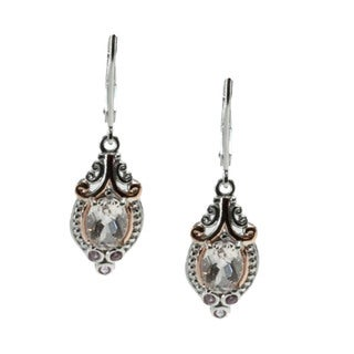 Michael Valitutti Morganite and Pink Sapphire Leverback Earrings