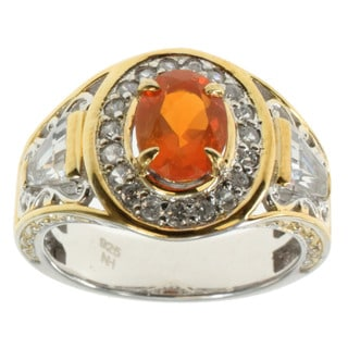Michael Valitutti Oregon Opal, Zircon and Topaz Ring