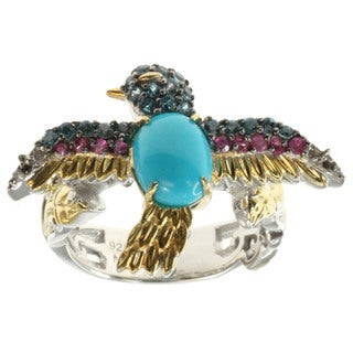 Michael Valitutti Sleeping Beauty Turquoise 'Bird' Ring