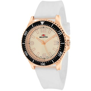 Seapro Women's SP5418 Tideway Round White Strap Watch