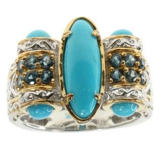 Michael Valitutti Palladium Silver Sleeping Beauty Turquoise Ring