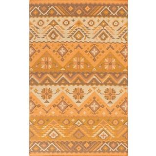 Hand-woven Tess Reversible Wool Rug (5' x 8')