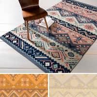 Hand-woven Tess Reversible Wool Area Rug - 5' x 8'