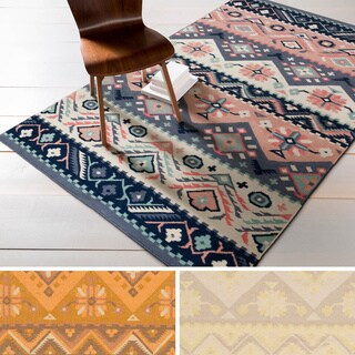 Hand-woven Tess Reversible Wool Area Rug (5' x 8')