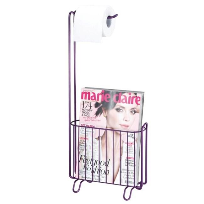 Toilet Paper Holder Magazine Rack Purple (Metal)