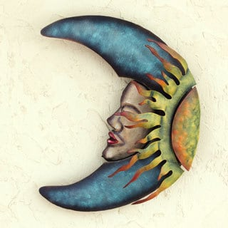 Handcrafted Iron 'Sensorial Eclipse' Wall Sculpture (Mexico)