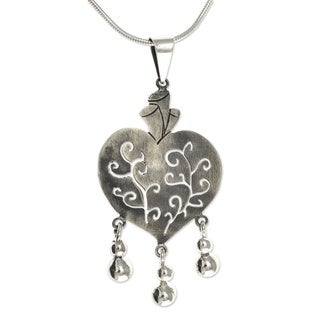 Handmade Sterling Silver Depth Of Heart Necklace Mexico