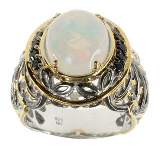 Michael Valitutti Ethiopian Opal Black Spinel Ring