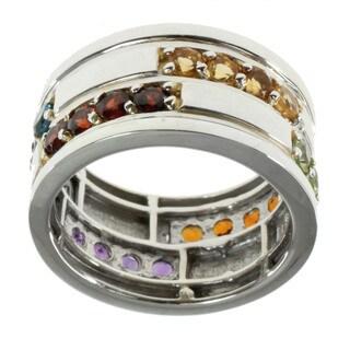 Michael Valitutti Multi-color Sapphire Ring (Option: 12)
