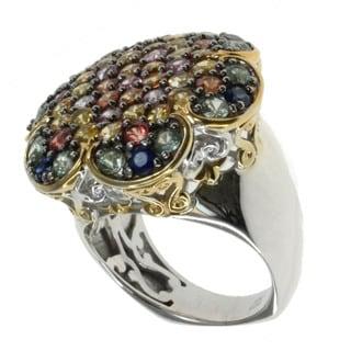 Michael Valitutti Multi-coloured Sapphire 'Flower' Ring