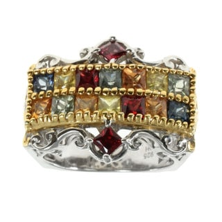 Michael Valitutti Multi-color Sapphire Ring