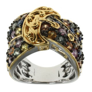 Michael Valitutti Multi-color Sapphire 'Buckle' Ring