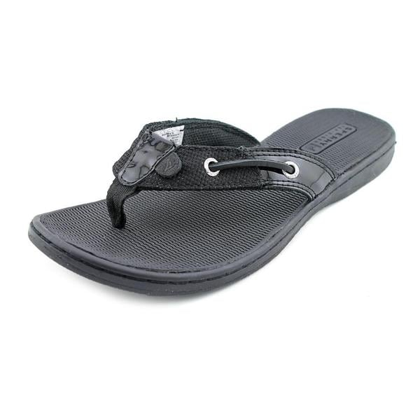 Womens Black Sperry Flip Flops