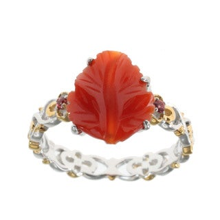 Michael Valitutti Agate 'Leaf' Ring