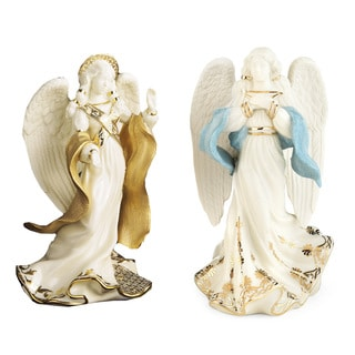 Lenox First Blessing Nativity 2-piece Angel Figurine Set