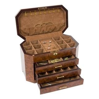 Rustic Italian Burlwood Jewelry Box