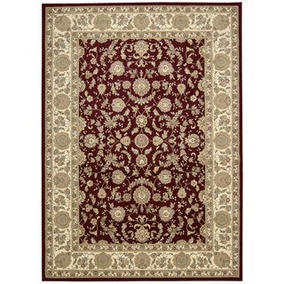 kathy ireland Antiquities Empress Garden Garnet Area Rug by Nourison (5'3 x 7'4)