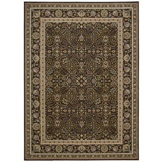 kathy ireland Antiquities American Jewel Espresso Area Rug by Nourison (5'3 x 7'4)