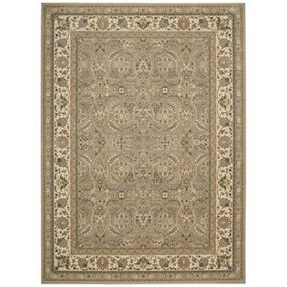kathy ireland Antiquities American Jewel Cream Area Rug by Nourison (5'3 x 7'4)