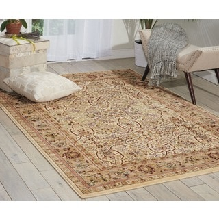 kathy ireland Antiquities American Jewel Ivory Area Rug by Nourison (5'3 x 7'4)