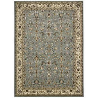 kathy ireland Antiquities Royal Countryside Slate Blue Area Rug by Nourison (5'3 x 7'4)