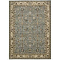 kathy ireland Antiquities Royal Countryside Slate Blue Area Rug by Nourison (9'10 x 13'2)