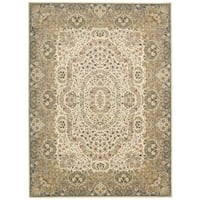 kathy ireland Antiquities Stately Empire Ivory Area Rug by Nourison - 9'10 x 13'2