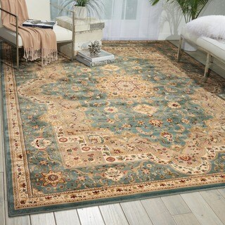 kathy ireland Antiquities Imperial Garden Slate Blue Area Rug by Nourison (9'10 x 13'2)
