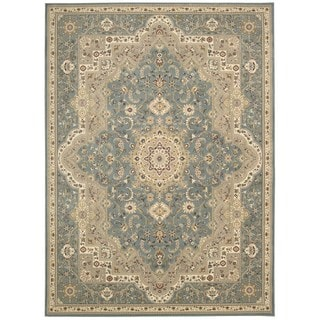 kathy ireland Antiquities Imperial Garden Slate Blue Area Rug by Nourison (7'10 x 10'10)
