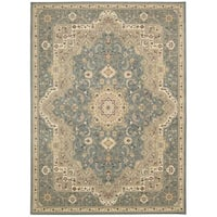 kathy ireland Antiquities Imperial Garden Slate Blue Area Rug by Nourison - 7'10 x 10'10