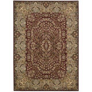 kathy ireland Antiquities Stately Empire Burgundy Area Rug by Nourison (7'10 x 10'10)