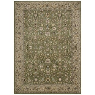 kathy ireland Antiquities Royal Countryside Sage Area Rug by Nourison (9'10 x 13'2)