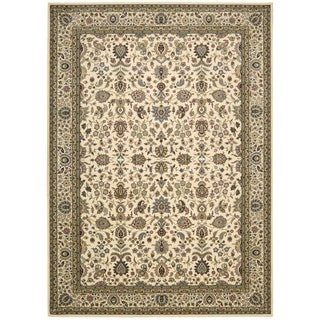 kathy ireland Antiquities Royal Countryside Ivory Area Rug by Nourison (7'10 x 10'10)