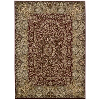 kathy ireland Antiquities Stately Empire Burgundy Area Rug by Nourison (5'3 x 7'4)