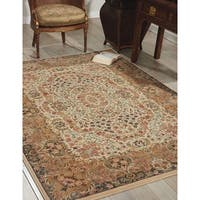 kathy ireland Antiquities Stately Empire Ivory Area Rug by Nourison - 5'3 x 7'4